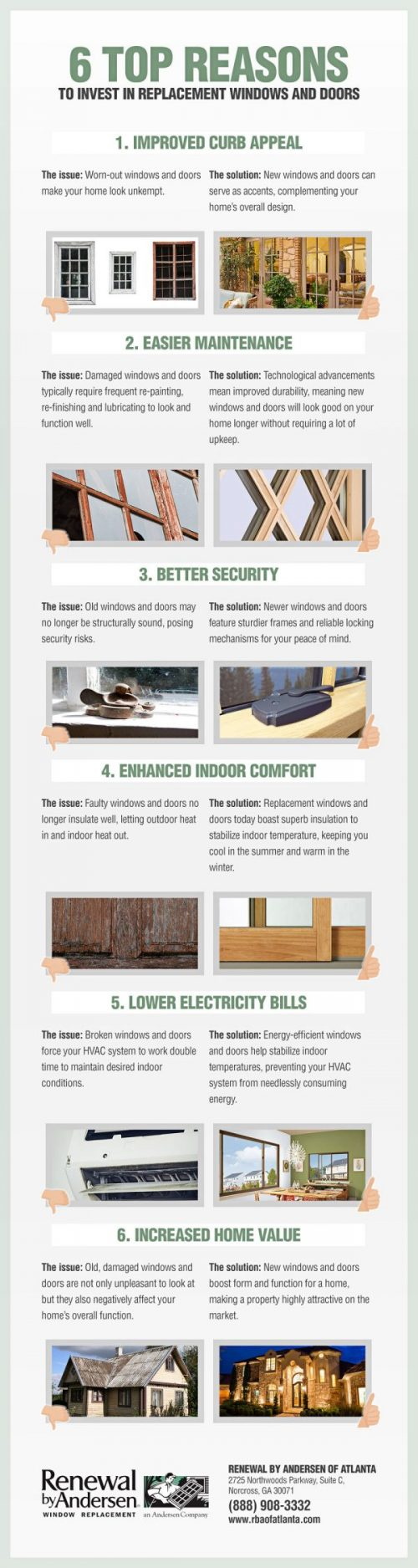 [INFOGRAPHIC] 6 Top Reasons to Invest in Replacement Windows and Doors